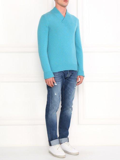 Пуловер из кашемира  свободного кроя - Общий вид