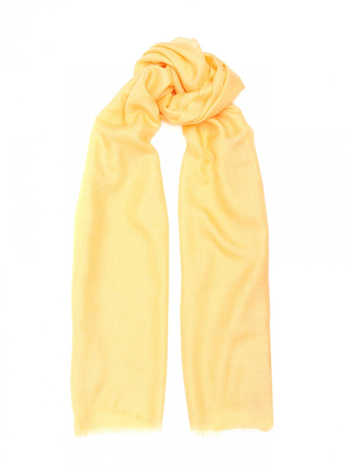 Шарф из кашемира и шелка Max&Co  –  Общий вид  – Цвет:  Оранжевый
