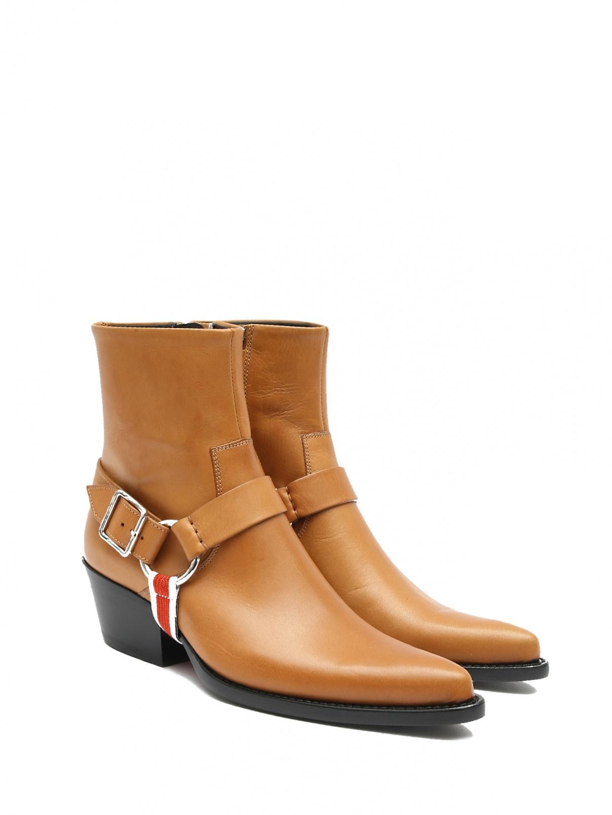 Ботинки кожаные Calvin Klein 205W39NYC  –  Общий вид  – Цвет:  Оранжевый