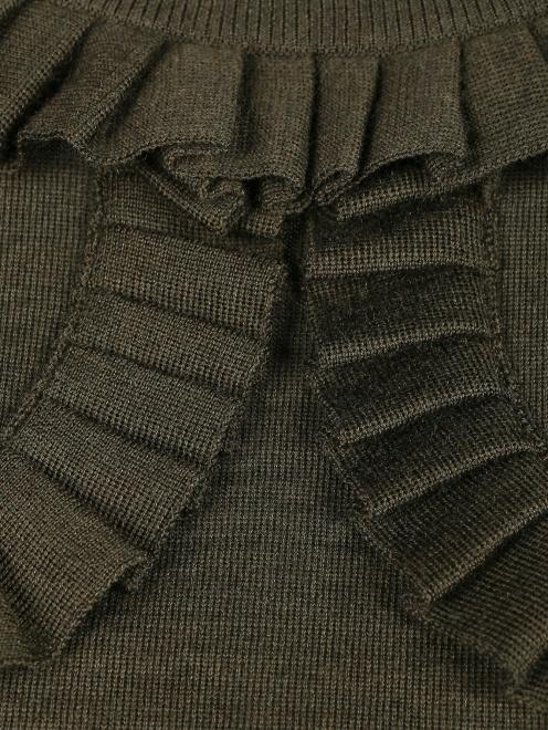 Джемпер из шерсти с рюшами - Деталь