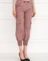 Укороченные брюки с накладными карманами и декоративной отделкой ICEBERG  –  Модель Верх-Низ