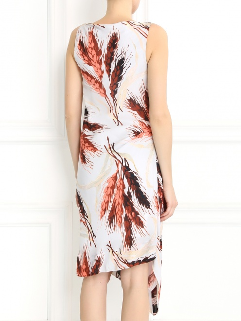 Платье-миди без рукавов с узором - Модель Верх-Низ1