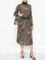 Платье-миди из шерсти с узором Etro  –  МодельОбщийВид