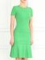 Трикотажное платье-мини N21  –  Модель Верх-Низ