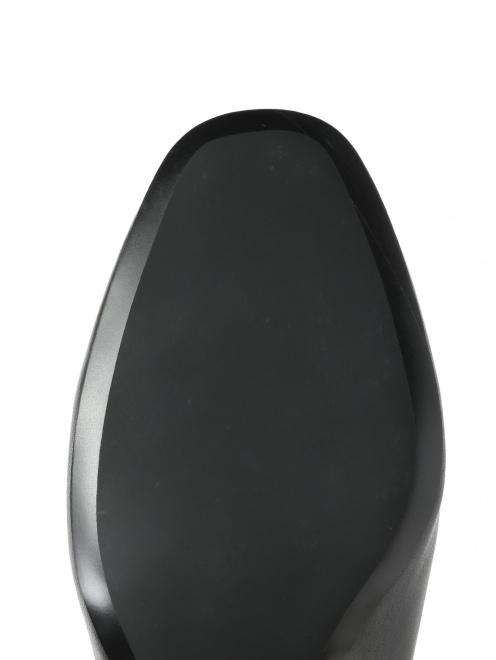 Ботильоны из гладкой кожи на среднем каблуке - Обтравка4