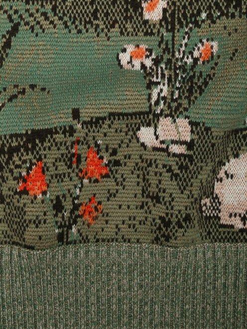 Джемпер из шерсти с узором - Деталь