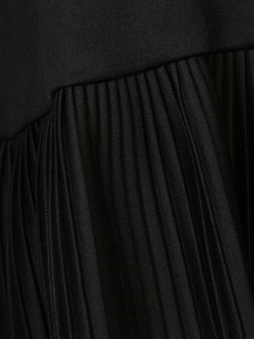 Свитшот из хлопка с контрастной отделкой - Деталь