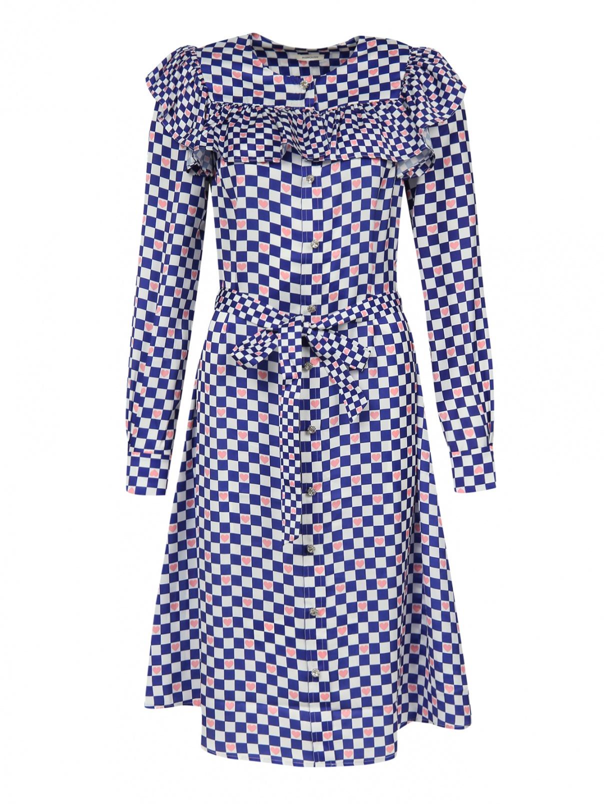 Платье - миди с узором и длинным рукавом Manoush  –  Общий вид