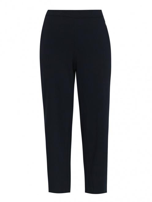 Широкие трикотажные брюки с металлическим декором - Общий вид