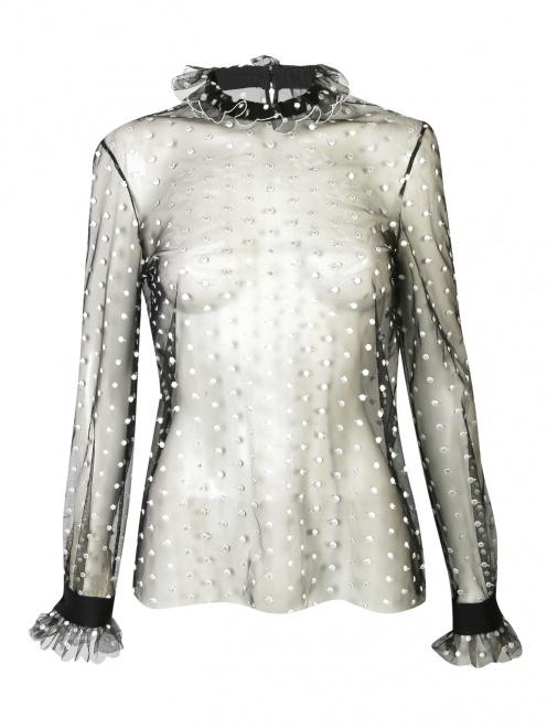 Прозрачная блуза с вышивкой - Общий вид