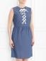 Платье из хлопка с декоративной шнуровкой Raoul  –  Модель Верх-Низ