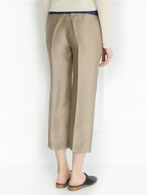 Укороченные брюки из шелка - Модель Верх-Низ1