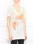 Платье свободного кроя из шелка с узором Barbara Bui  –  Модель Верх-Низ