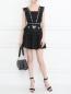 Платье-мини из льна с узором Stevie May  –  МодельОбщийВид
