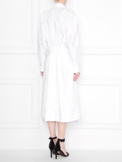Платье хлопковое со сборкой - МодельВерхНиз1
