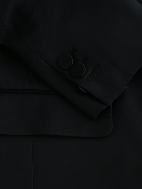 Жакет из шерсти и шелка с отложным воротником - Деталь1