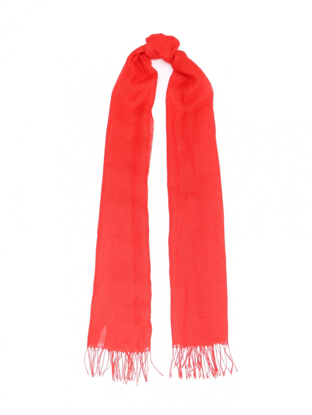 Шарф из льна Marina Rinaldi  –  Общий вид  – Цвет:  Красный