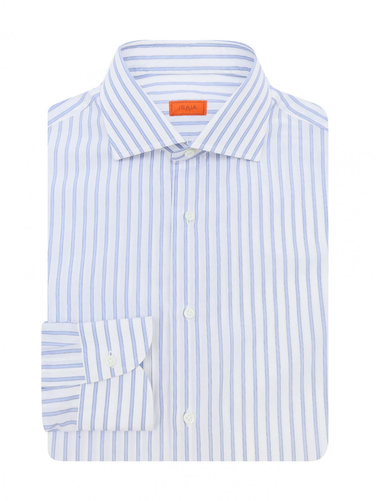 """Рубашка из хлопка с узором """"полоска"""" Borrelli  –  Общий вид  – Цвет:  Узор"""