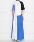 Платье макси из трикотажа в стиле колорблок Sportmax  –  МодельВерхНиз1