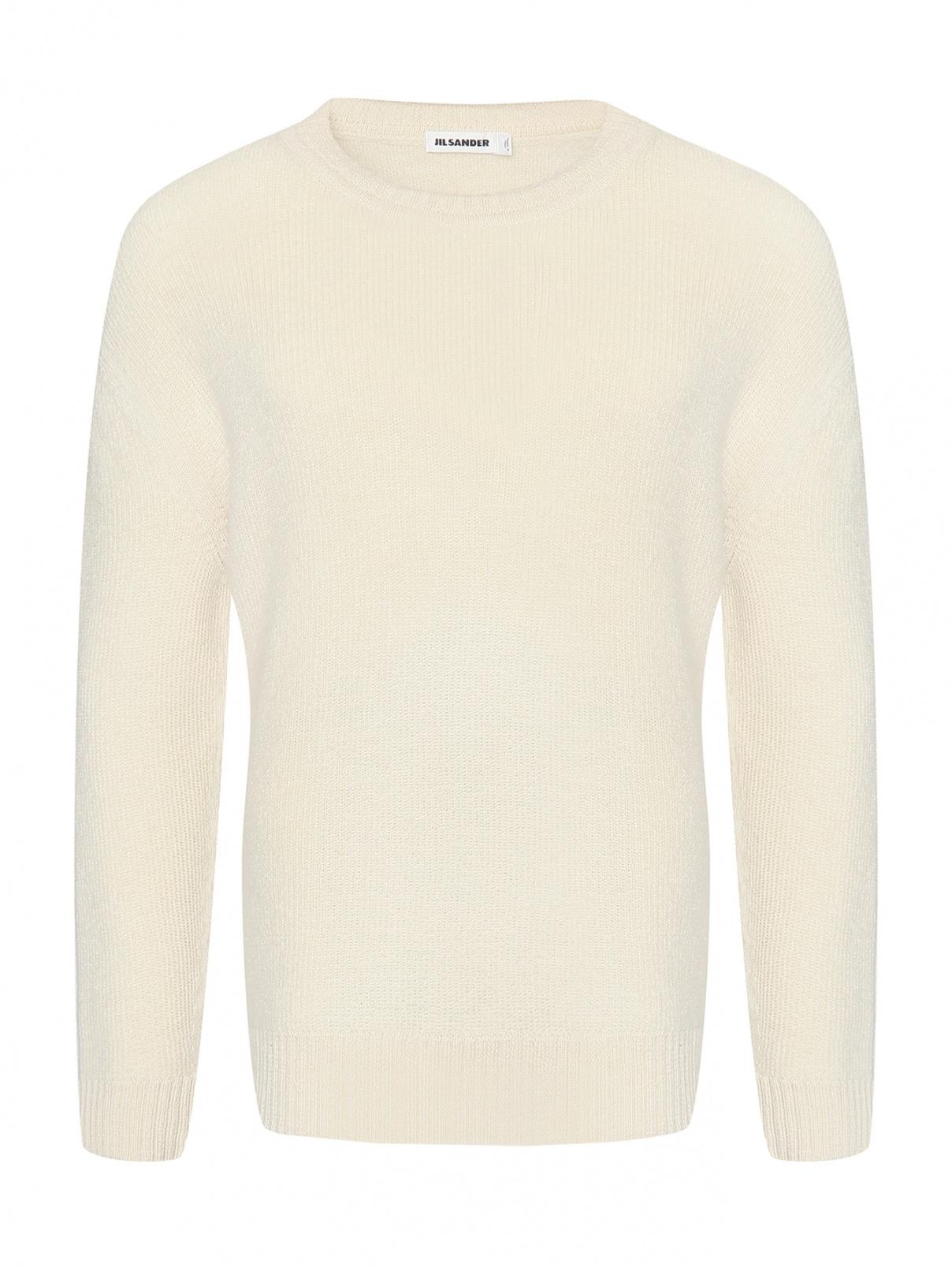 Джемпер из шерсти Jil Sander  –  Общий вид  – Цвет:  Белый