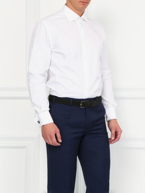 Классическая сорочка из хлопка  - Модель Верх-Низ