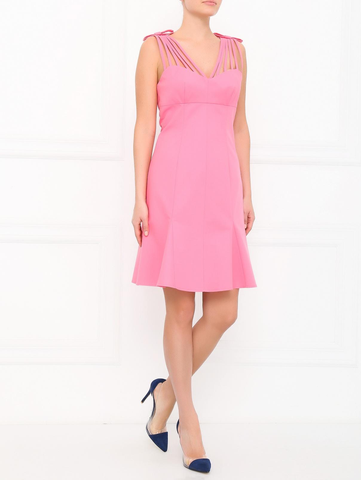 Платье-мини из хлопка Moschino  –  Модель Общий вид