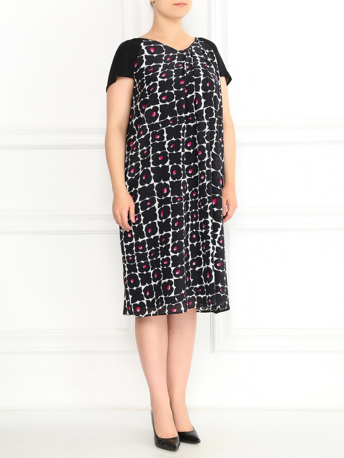 Платье из шелка с узором Marina Rinaldi  –  Модель Общий вид