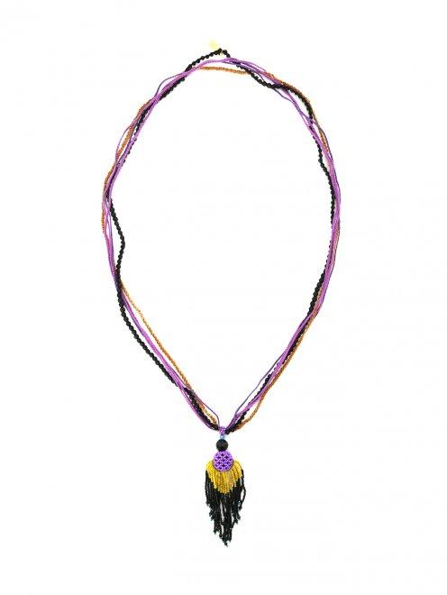 Ожерелье из хлопка и бисера - Общий вид