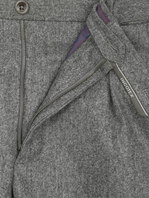 Брюки прямого кроя из шерсти  - Деталь1