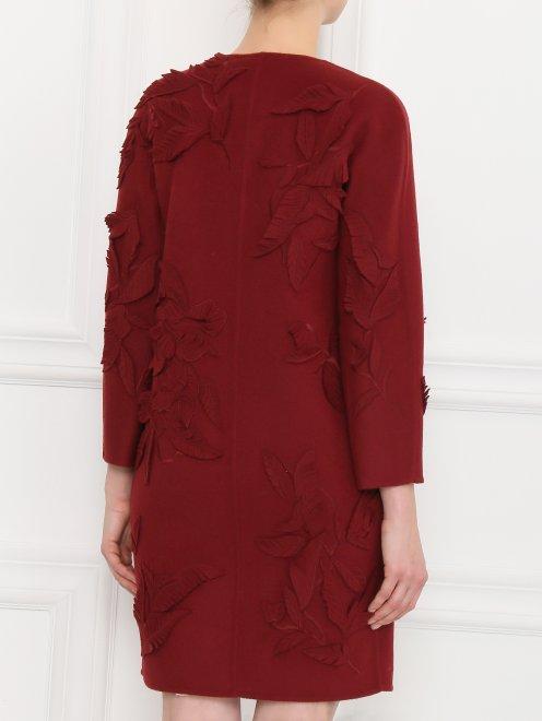 Пальто из шерсти с декором - Модель Верх-Низ1