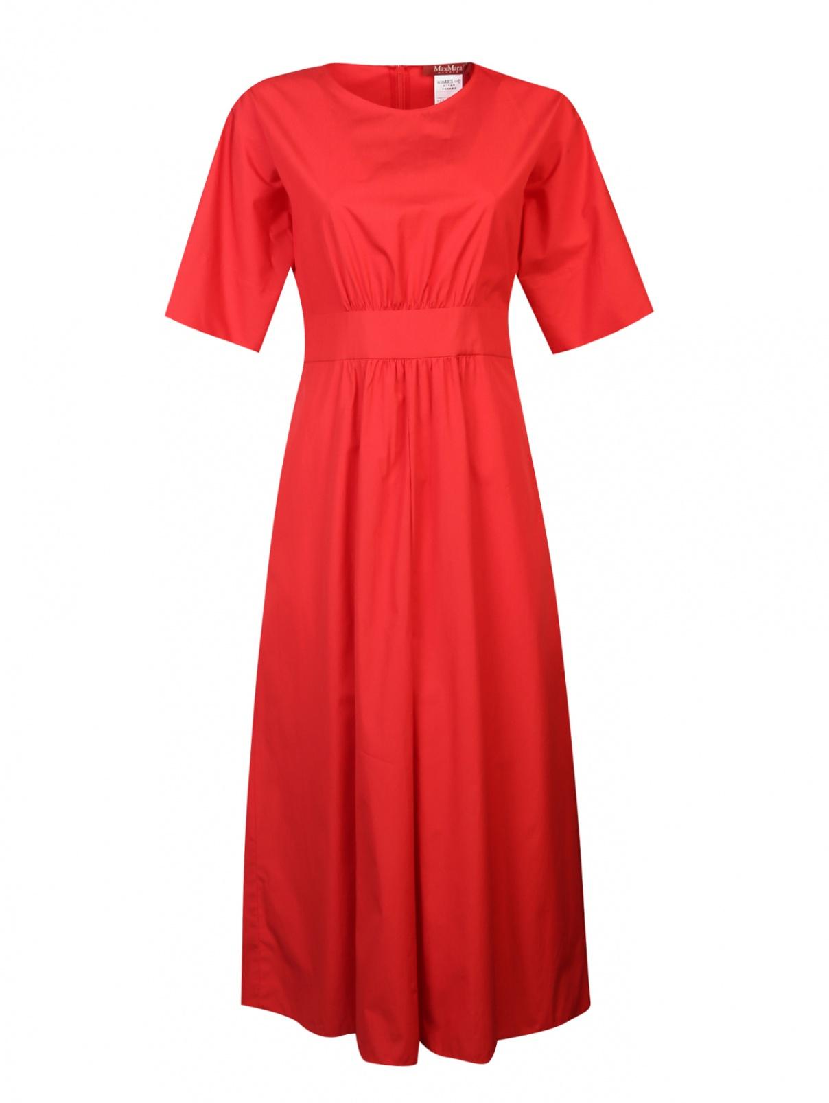 Платье из хлопка со сборками на талии Max Mara  –  Общий вид