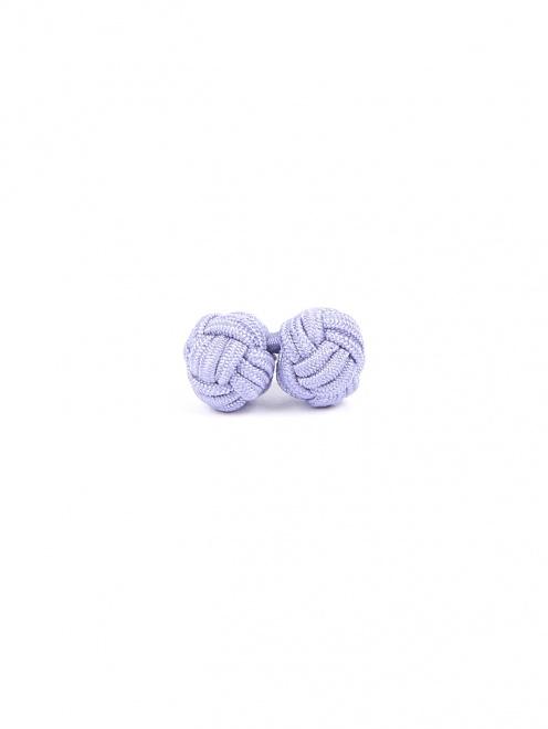 Запонки из текстиля в виде узелков - Обтравка3