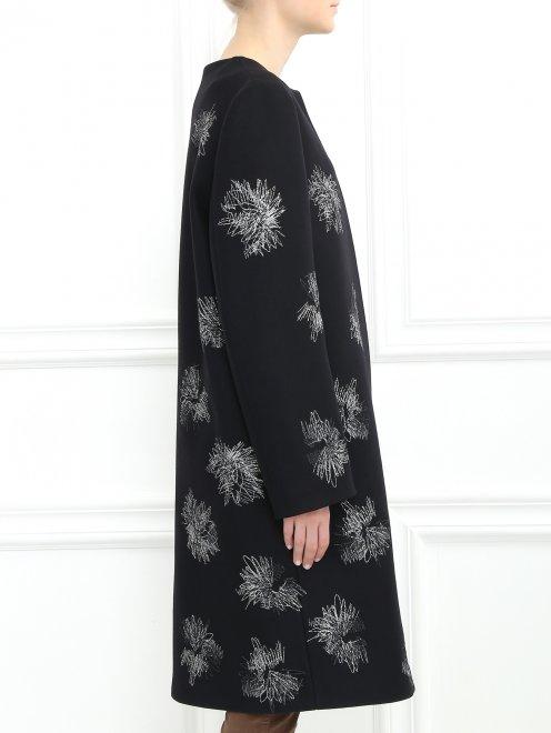 Пальто декорированное вышивкой - Модель Верх-Низ2