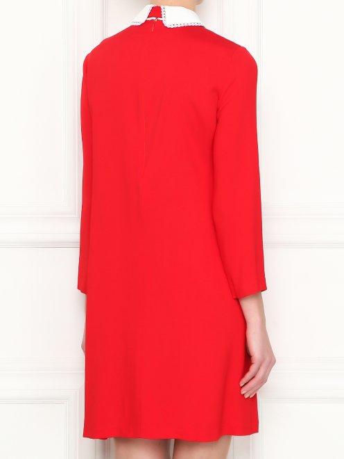 Платье-мини с контрастной отделкой - МодельВерхНиз1