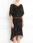 Платье-миди из шелка с асимметричным подолом Barbara Bui  –  Модель Верх-Низ