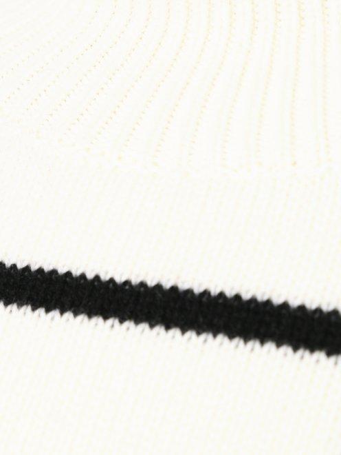 Платье трикотажное из шерсти и кашемира с рисунком - Деталь
