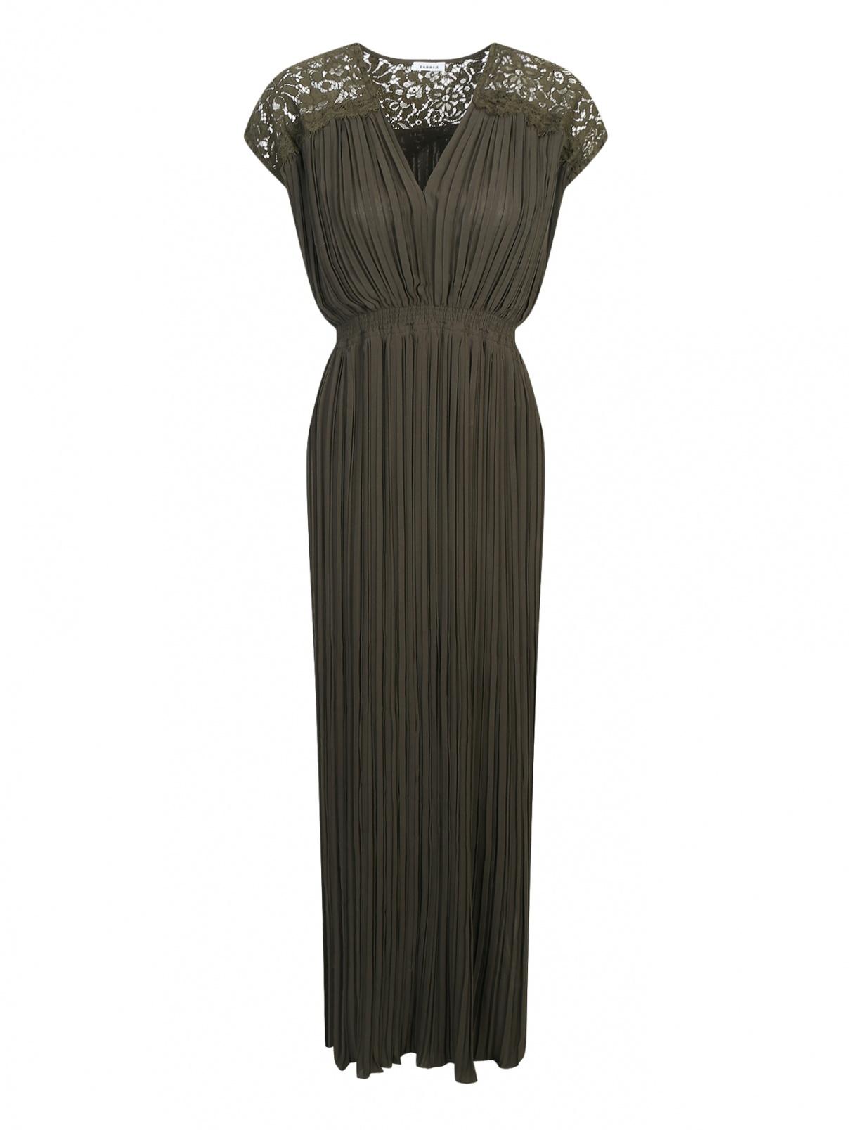 Плиссированное платье с кружевной отделкой P.A.R.O.S.H.  –  Общий вид