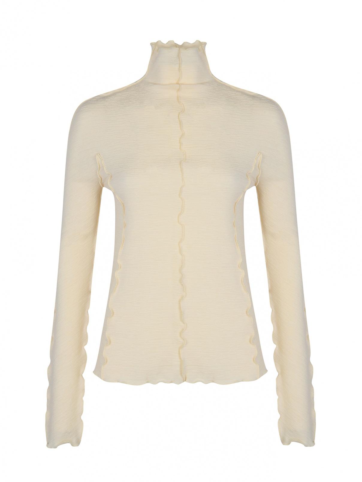 Водолазка шерстяная Jil Sander  –  Общий вид  – Цвет:  Желтый