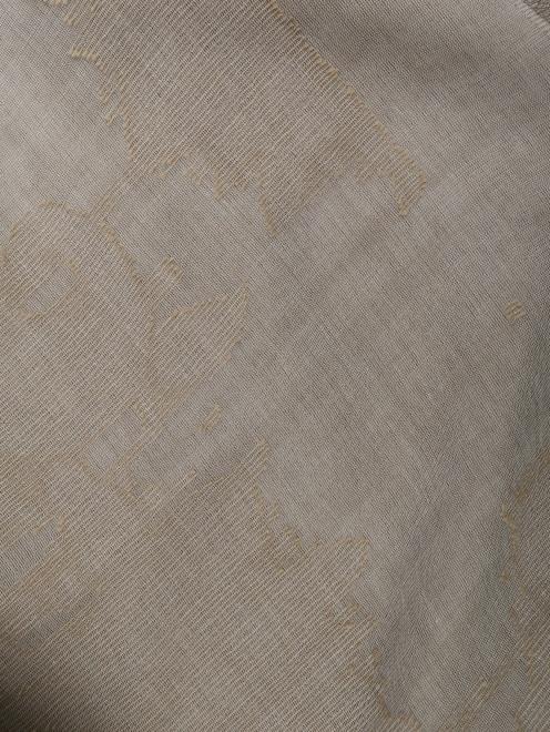 Шарф из хлопка и вискозы с узором  - Общий вид