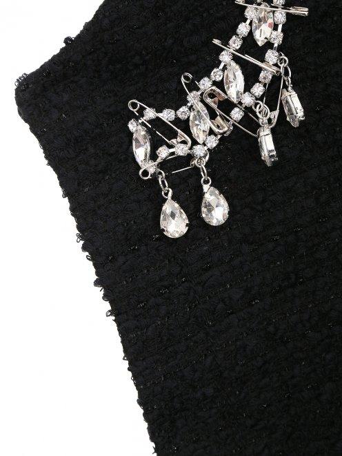 Пальто из шерсти с аппликацией из кристаллов - Деталь1