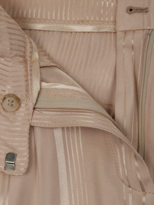 Укороченные брюки из вискозы с узором - Деталь1