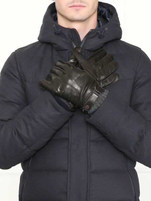 Перчатки кожаные с вязаной подкладкой - Общий вид