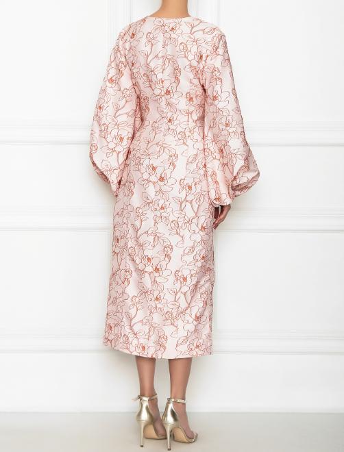 Платье-миди с цветочным узором - МодельВерхНиз1
