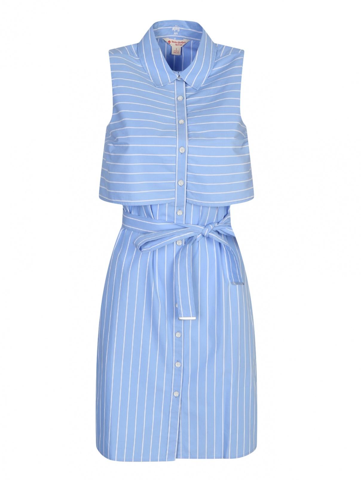 Платье из хлопка в полоску Brooks Brothers  –  Общий вид
