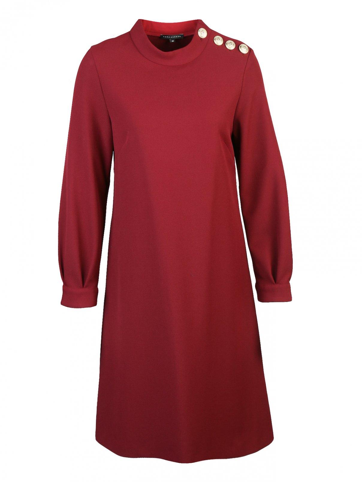 Платье прямого кроя с декоративными пуговицами Tara Jarmon  –  Общий вид