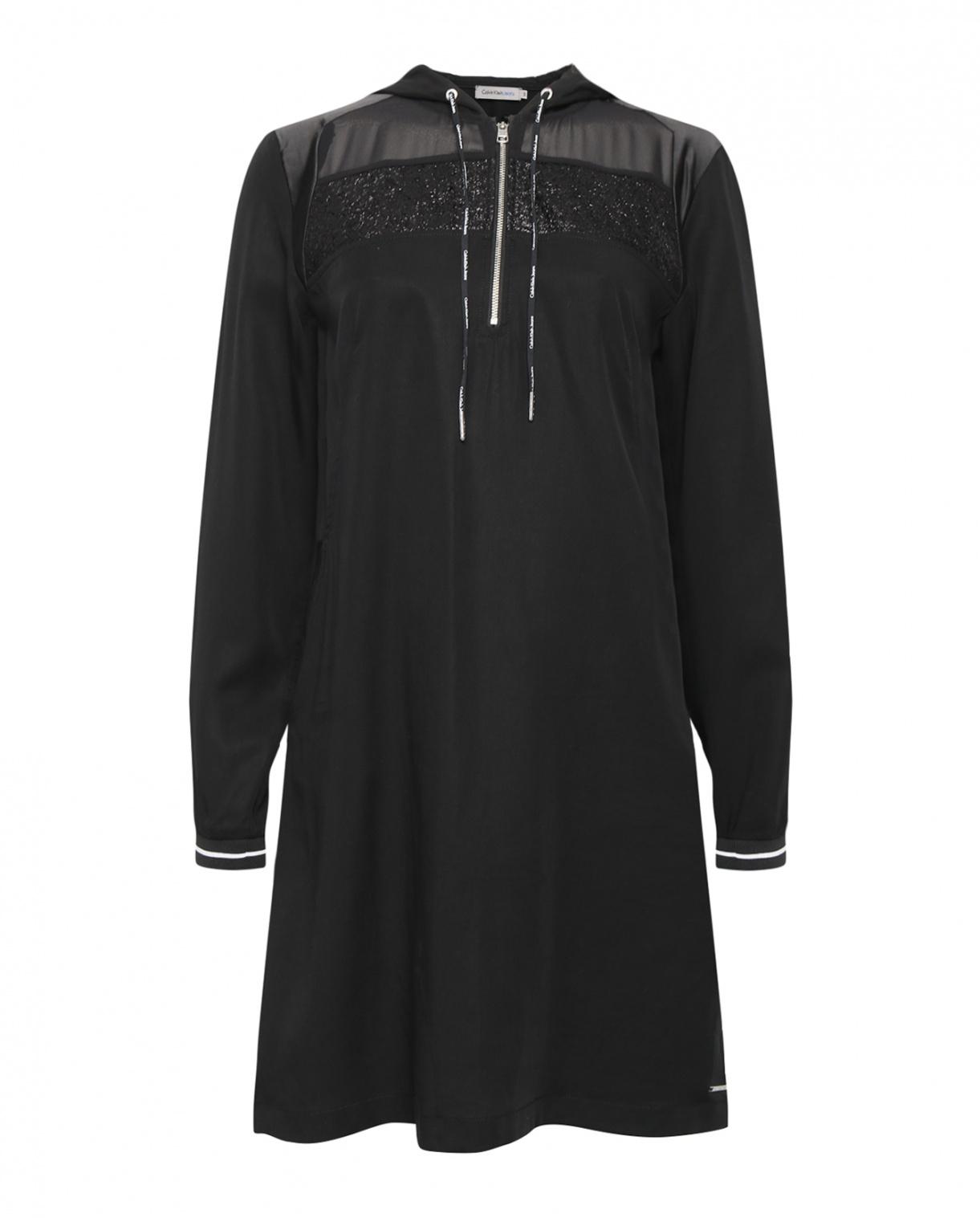 Платье прямого кроя с капюшоном Calvin Klein Jeans  –  Общий вид
