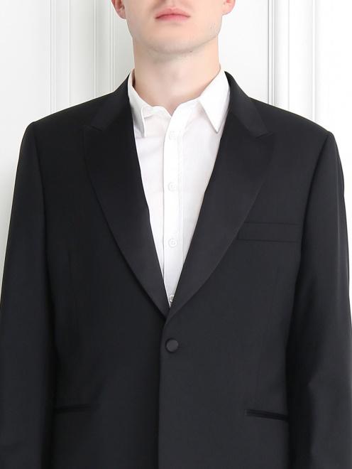 Пиджак однобортный из шерсти - Модель Общий вид1