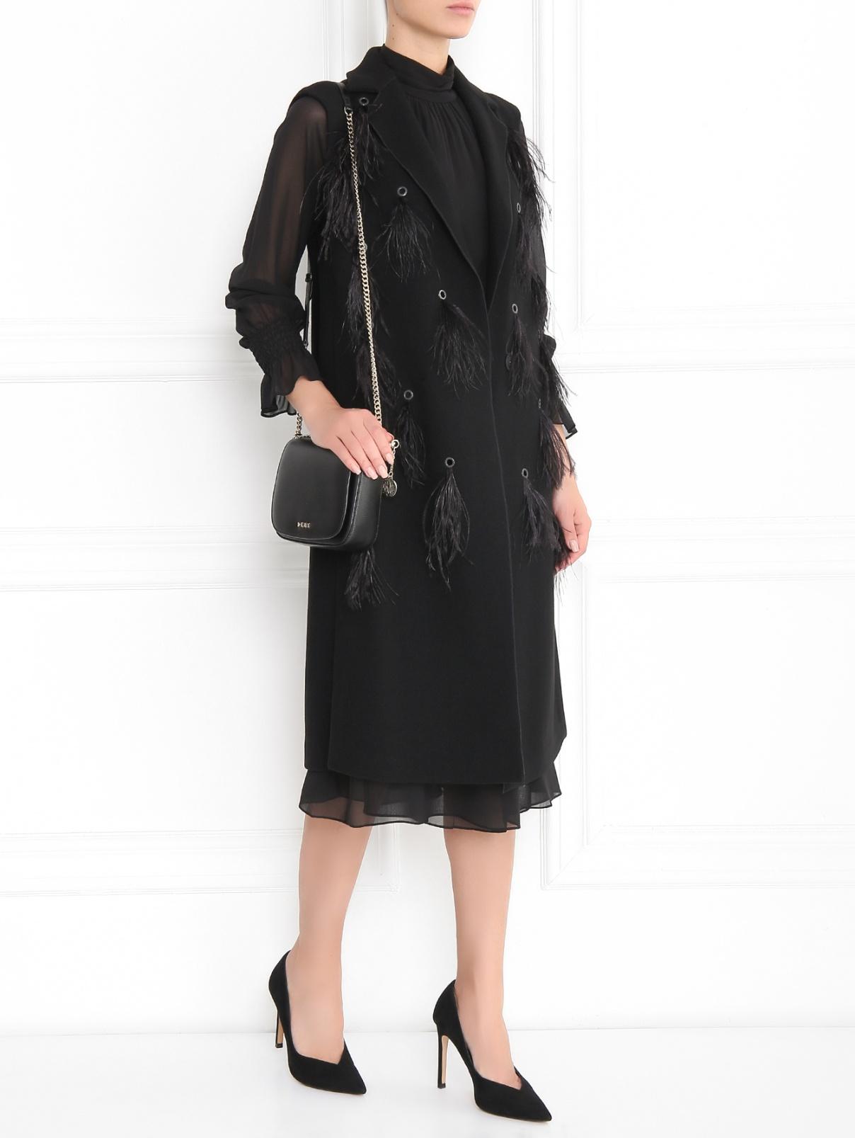 Платье-миди из шелка с длинным рукавом Tory Burch  –  Модель Общий вид
