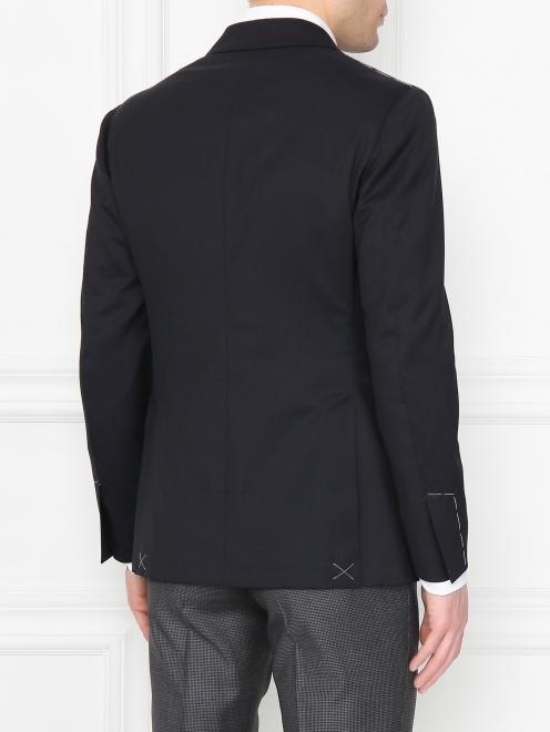 Пиджак двубортный из шерсти - МодельВерхНиз1