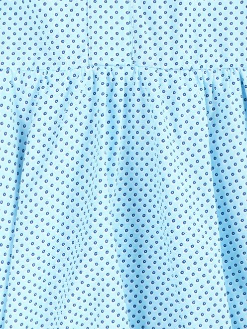Платье-мини из хлопка с узором - Деталь1